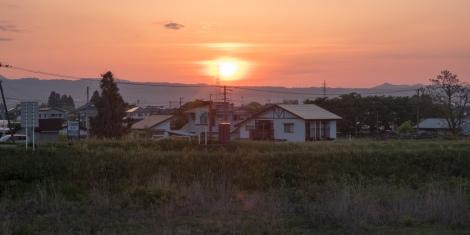 Sunset in Aizu Wakamatsu