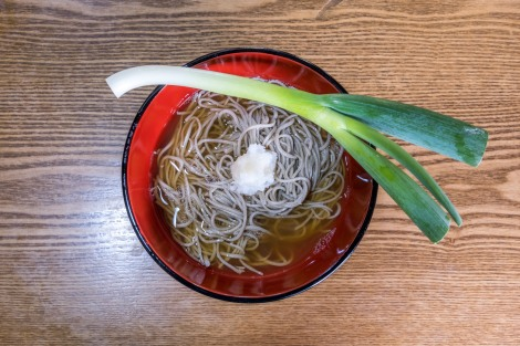 Takato soba noodles (soba with leek) in Ouchi-juku