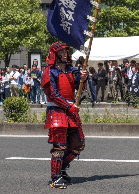 A samurai at the Aoba Matsuri, Sendai