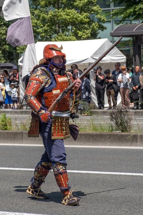 A samurai at the Aoba Matsuri, Sendai