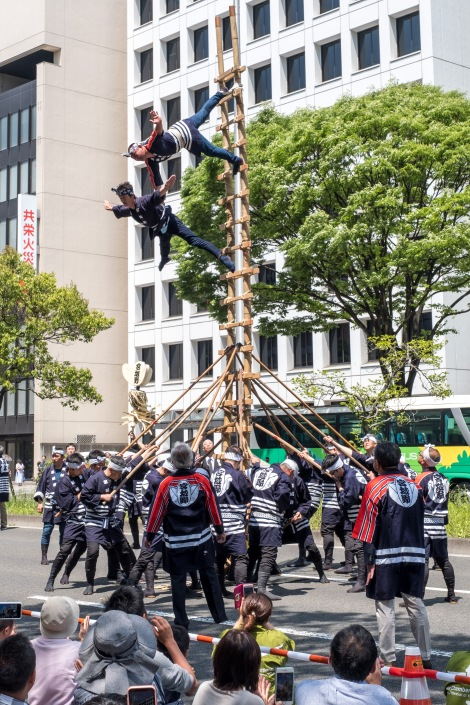 Firemen performing at the Aoba Matsuri, Sendai