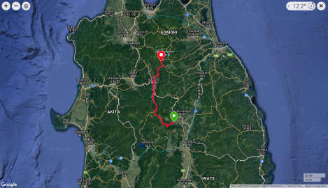 Jb47 - google map from Garmin Connect