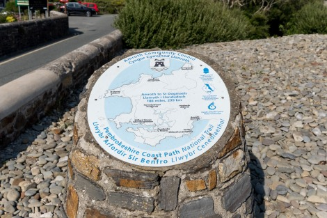 The start of the Pembrokeshire Coast Path in Amroth