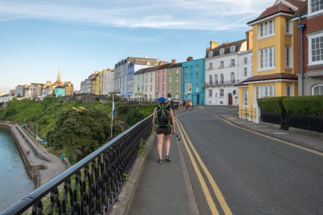 Walking into the beautiful coastal town of Tenby