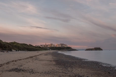 It's 9:34pm and still more than enough light to keep walking... this is looking back at Tenby
