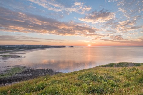 Sunrise at 5:14am on the Pembrokeshire Coast Path