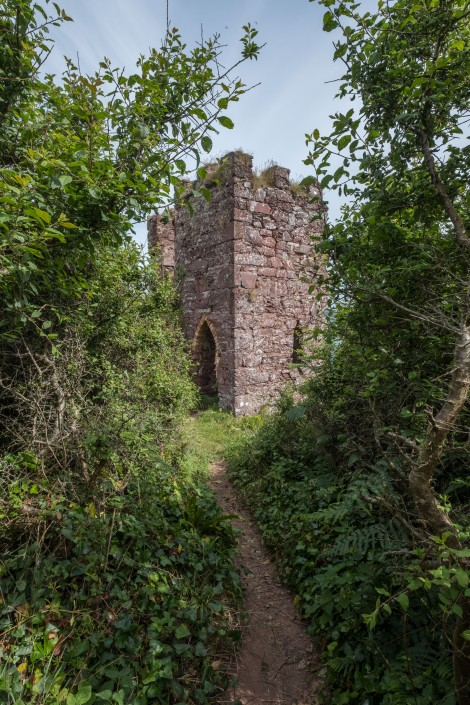 Victorian watchtower remains just before Monk Haven