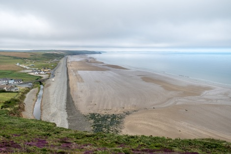 Looking back at Newgale Beach