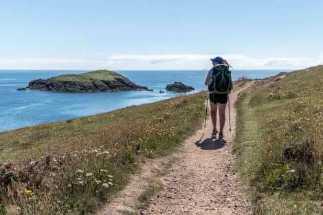 A view of Carreg Fran island