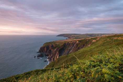 Sunset on the Pembrokeshire Coast Path
