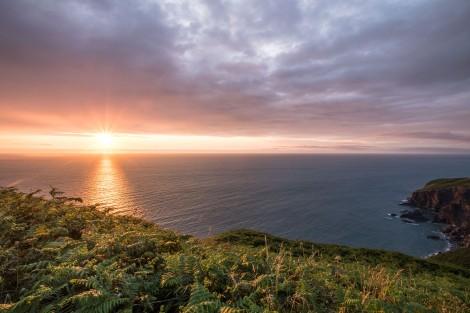 Sunset on the Pembrokeshire Coast Path