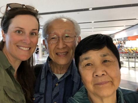 Sad farewell to Kanji and Mieko at Sapporo airport