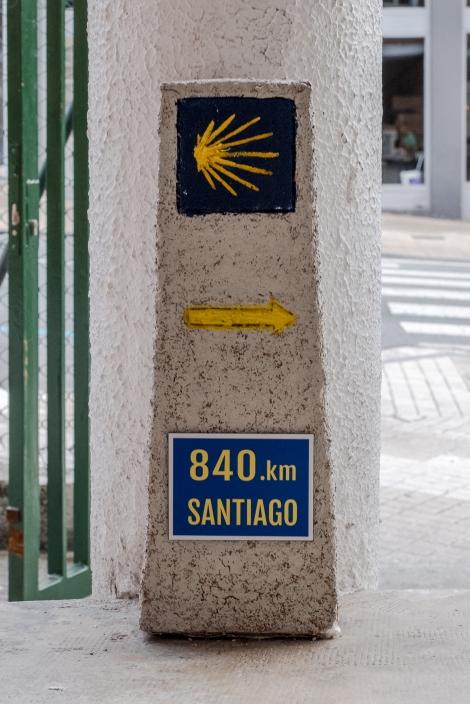 Camino del Norte waymark