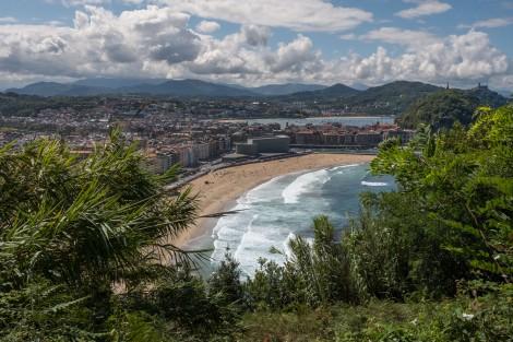 First views of San Sebastián