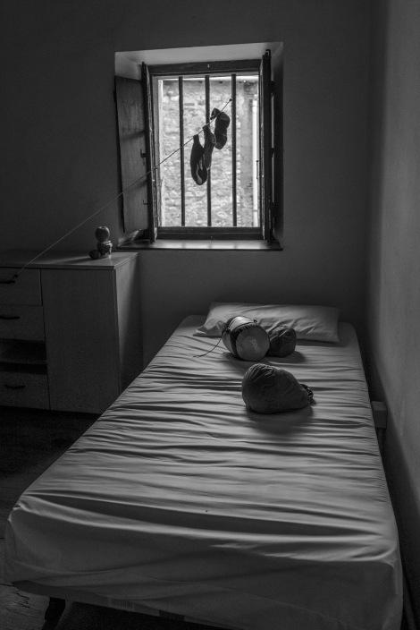 My bed at Albergue de Zumaia Convento de San José