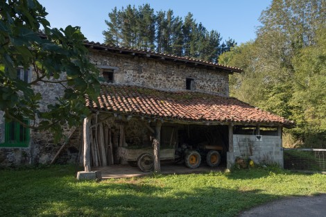 A farmhouse in the Basque countryside