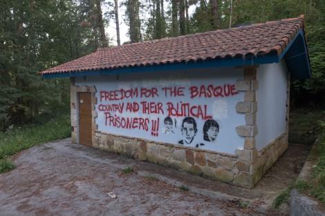 Political graffiti in the Basque region