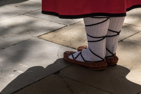 A Basque dancer's traditional costume