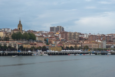 Views across the river of Portugalete