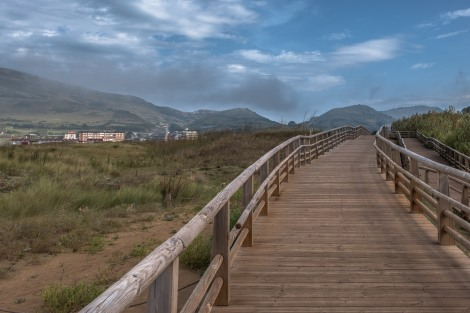 A section of boardwalk in Playa de la Arena