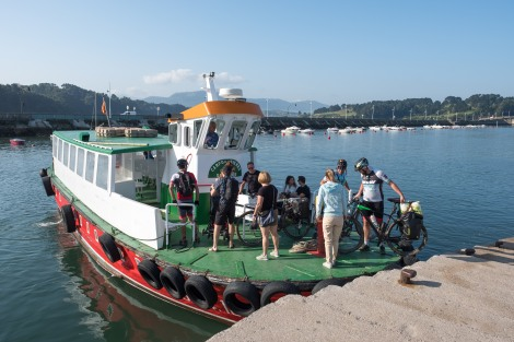 Catching the ferry from Somo to Santander