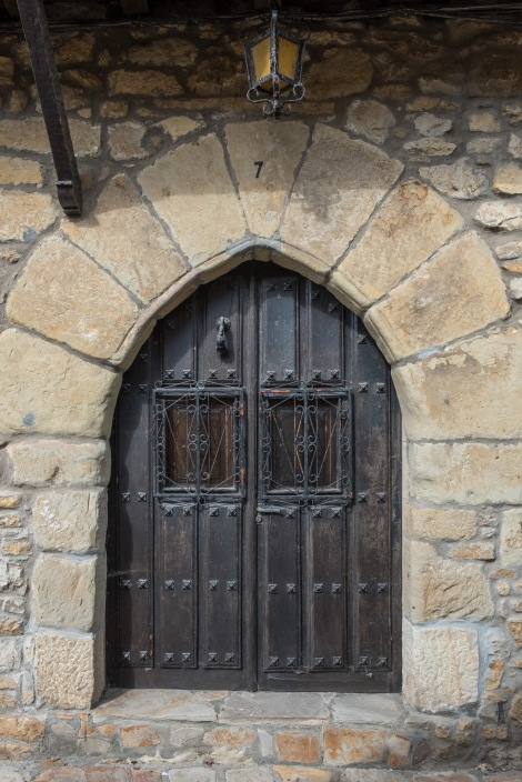 Old doorways in Santillana del Mar