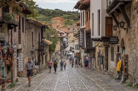 The cobbled streets of Santillana del Mar