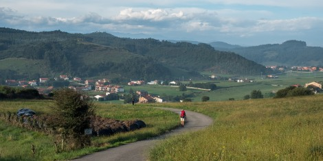 Pilgrims and the Cantabrian countryside