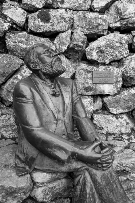 Antoni Gaudi statue at El Capricho de Gaudi
