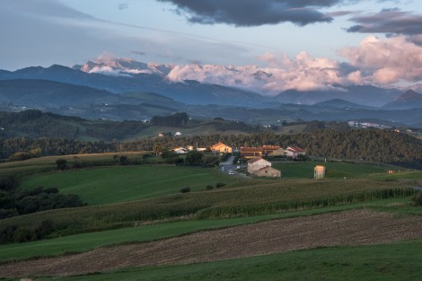 My first view on this Camino of the Picos de Europa