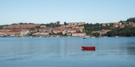 Looking across the estuary to San Vicente de la Barquera