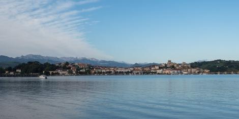 Looking across the estuary to San Vicente de la Barquera