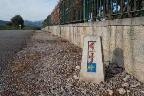 A new waymark on the Camino del Norte