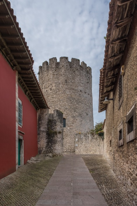 The 13th century castle tower in Llanes