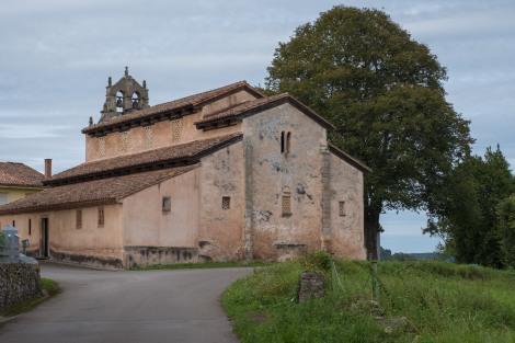 The 10th century (921) Pre-Romanesque Church of San Salvador (Iglesia de San Salvador) in Priesca