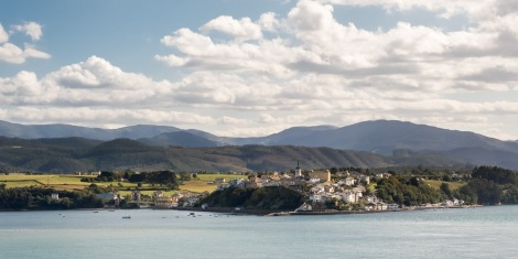 Looking back towards Castropol in Asturias
