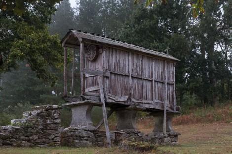 A Galician-style hórreo (granary)