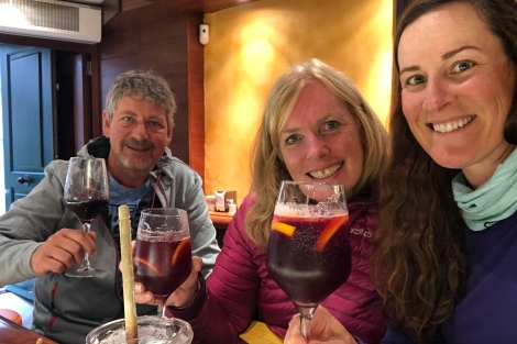 The next day I caught up with Cyndi and Michael who took the Primitivo route (of course back at Taberna do Bispo!)