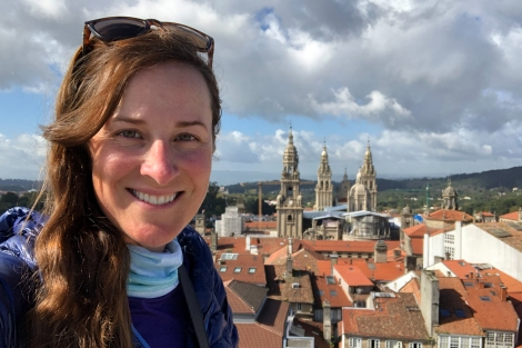 And just before leaving Santiago, I met my good friend Johnnie Walker and scrambled up to the top of a church for this incredible view of the Cathedral, thanks John!