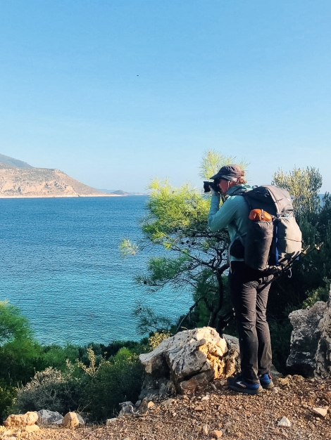 Me snapping those coastal views on the Lycian Way