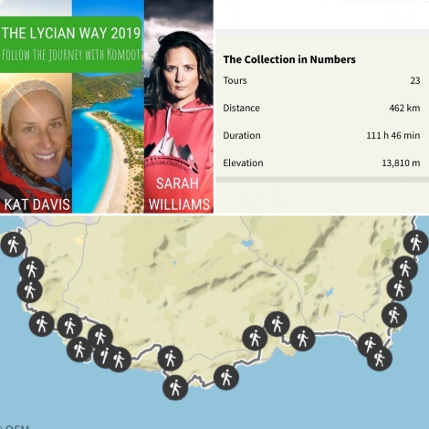 Lycian Way statistics from Komoot