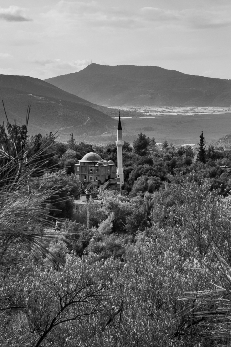 Mosque and mountains on the Lycian Way
