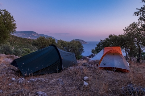 Camping with a view on the Lycian Way