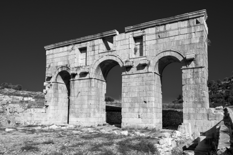 The Arch of Mettius Modestus in Patara on the Lycian Way