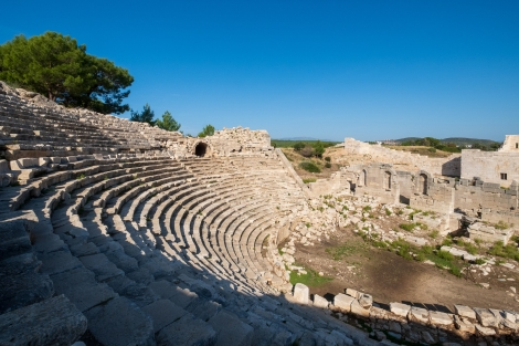 Amphitheatre at the Patara ruins