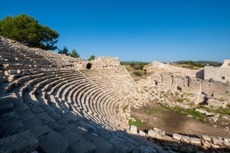 Amphitheatre at the Patara ruins