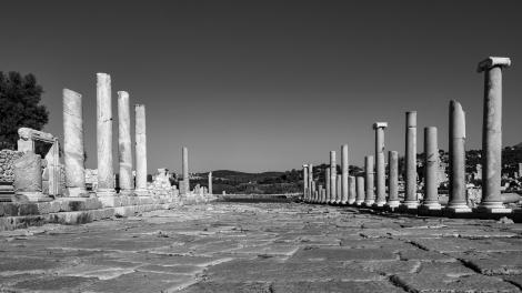The main street at the Patara ruins