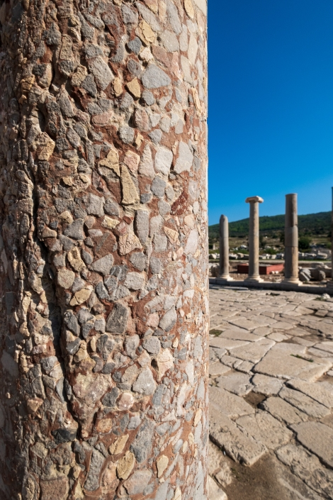 Ancient columns in the main street at the Patara ruins