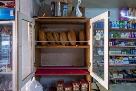 Every market has a fresh bread cupboard like this at the entrance