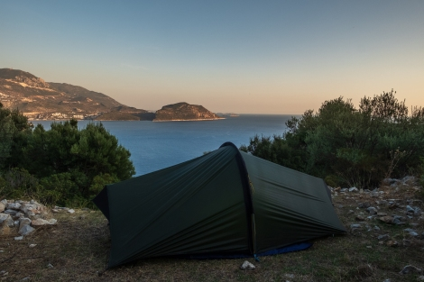 Camping with a view towards Kaş